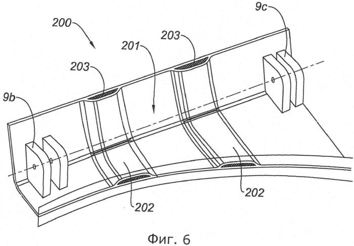 Опорная конструкция для реверсора тяги, в частности, для решетчатого реверсора тяги