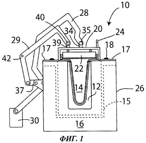 Сосуд для содержания расплавленного металла, имеющий подвижную крышку