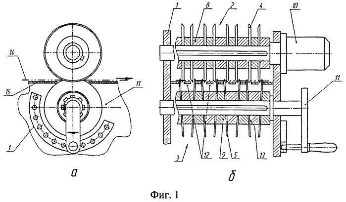 Устройство для разрезки ткани на ленты