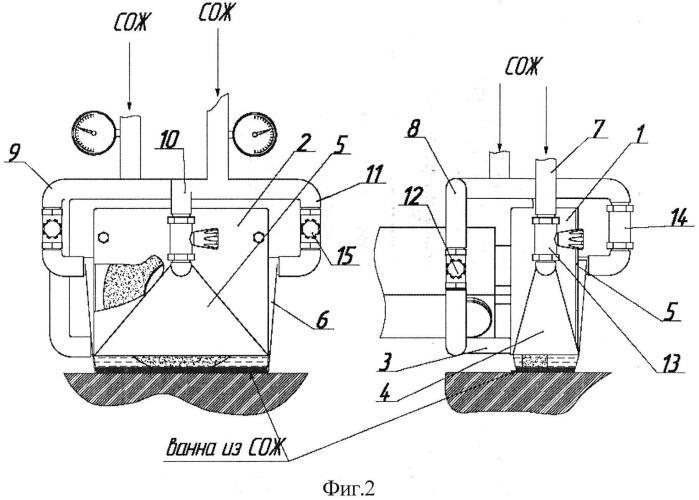 Устройство для подачи смазочно-охлаждающей жидкости (сож) при плоском шлифовании периферией круга