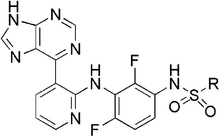 Новое производное пуринилпиридиниламино-2,4-дифторфенилсульфонамида, его фармацевтически приемлемая соль, способ его получения и фармацевтическая композиция, обладающая ингибирующей активностью в отношении raf-киназы, содержащая данное соединение в качестве активного ингредиента