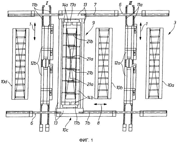 Способ и устройство для манипулирования слябами для зачистки поверхностей слябов
