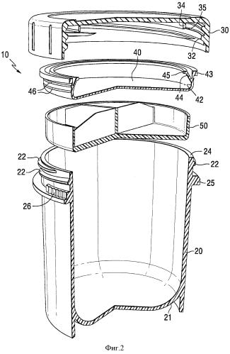 Узлы крышки с уплотнением для контейнера