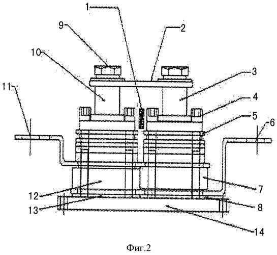 Высокомощный обжимной твердотельный релейный модуль и способ его изготовления