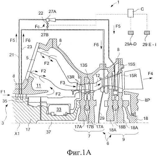 Способ эксплуатации газовой турбины, система охлаждения газовой турбины и газовая турбина, содержащая такую систему