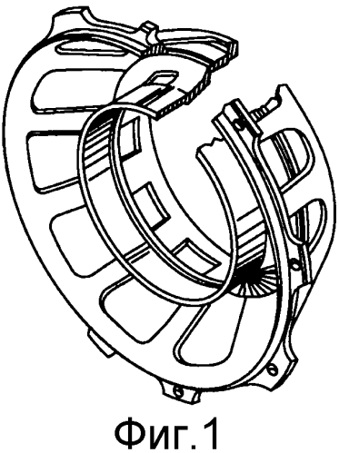 Гибкая опора заднего подшипника с упором для газотурбинного двигателя