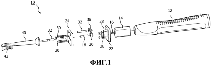 Механически приводимая в действие резонансная приводная цепь для электрической зубной щетки