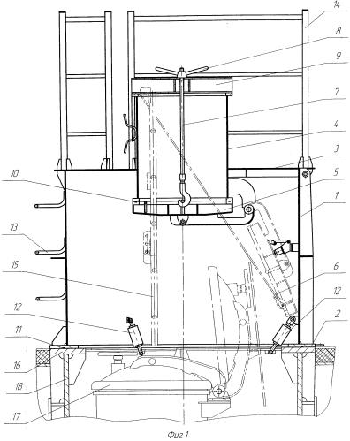 Устройство для контроля и проверок спасательного люка с комингс-площадкой подводной лодки (макет)