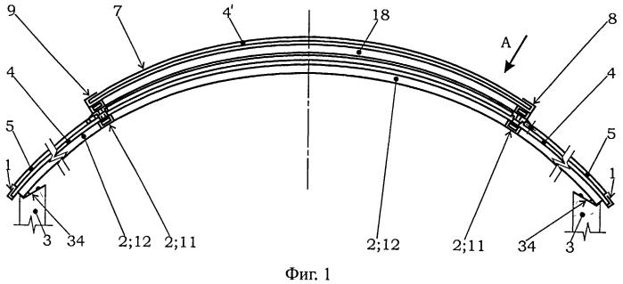 Зенитное перекрытие строительной конструкции, крышка люка зенитного перекрытия и профиль крышки люка