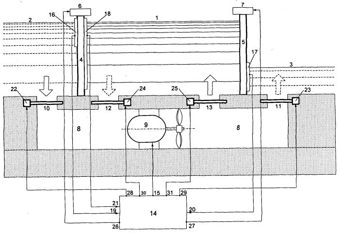 Система генерирования электроэнергии в судоходном шлюзе