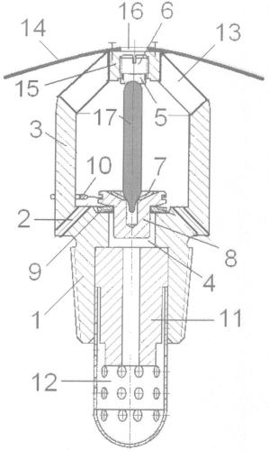 Спринклерный ороситель кочетова пенного типа