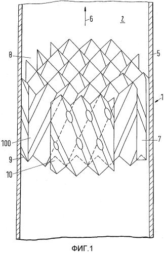 Массообменное устройство, включающее в себя структурированную насадку