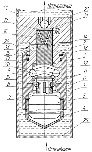 Скважинный электроплунжерный насос