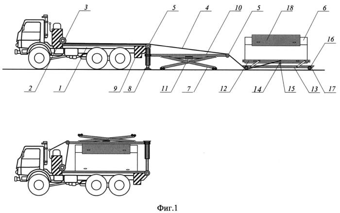 Транспортное средство для перевозки суперконтейнеров с разрядными и экологически опасными грузами