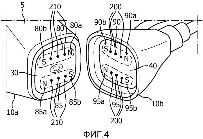 Магнитная соединительная система для диагностического зонда
