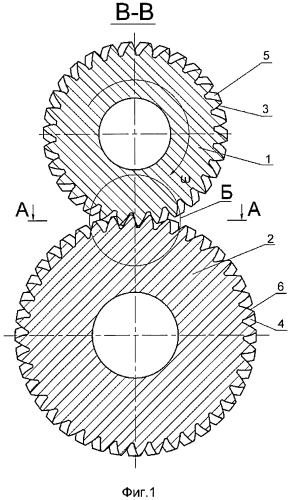 Арочная цилиндрическая зубчатая передача