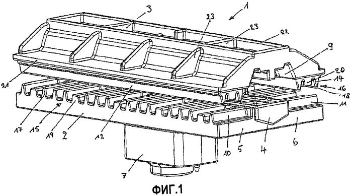 Зажимное соединение для закрепления пластинообразных конструктивных элементов, в частности солнечных модулей