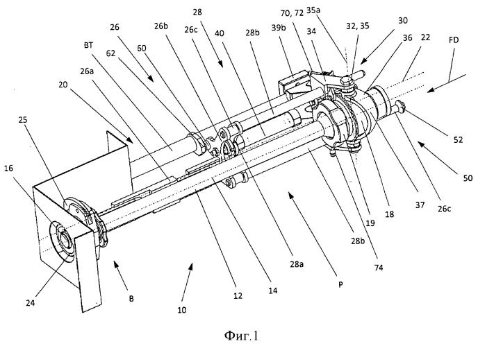 Заполняющий узел отрезающего устройства для производства колбасных продуктов