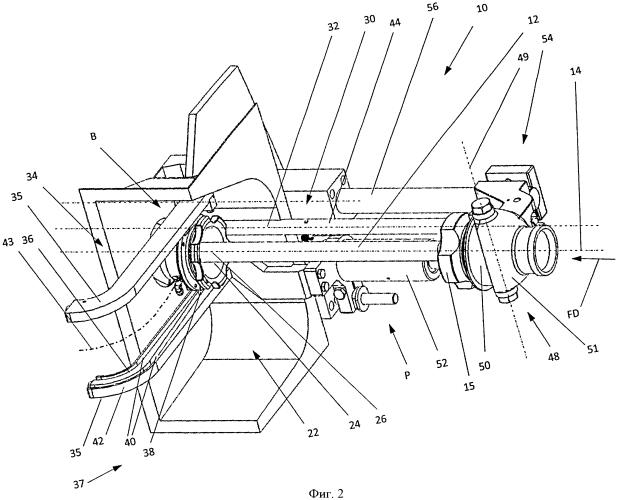 Клипсатор с поворотной наполнительной трубкой и поворачиваемым тормозом оболочки