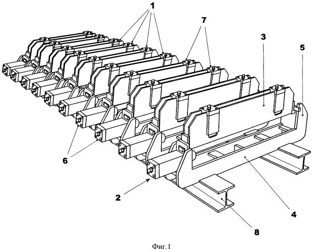 Обжимной модуль для пропитанных проводниковых стержней крупногабаритных электрических машин и обжимной механизм, оборудованный таким обжимным модулем