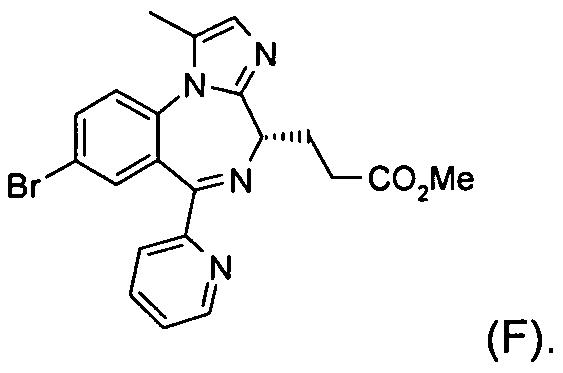 Способ получения метилового эфира 3-[(4s)-8-бром-1-метил-6-(2-пиридинил)-4н-имидазо[1,2-а][1,4]бензодиазепин-4-ил]пропионовой кислоты или его бензолсульфонатной соли и соединения, применяемые в этом способе
