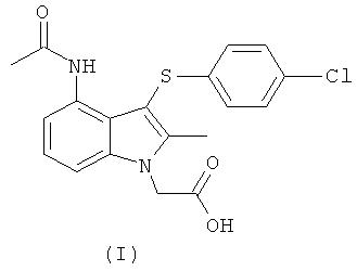 Промежуточные соединения и способы получения 4-(ацетиламино)-3-[(4-хлорфенил)тио]-2-метил-1н-индол-1-уксусной кислоты