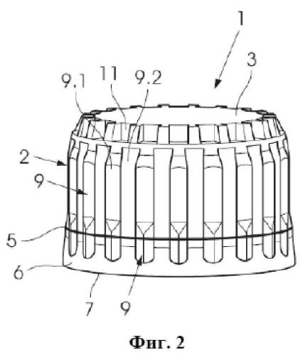 Крышка для бутылки с наружными элементами для разъемного соединения