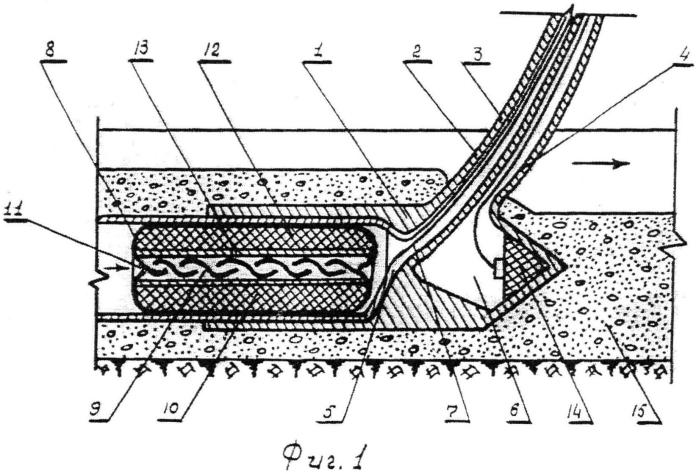 Центрирующий элемент для пропуска пневмоопалубки к пневмотрубоукладчику