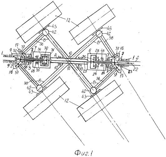 Управляемая тележка наземной транспортной системы