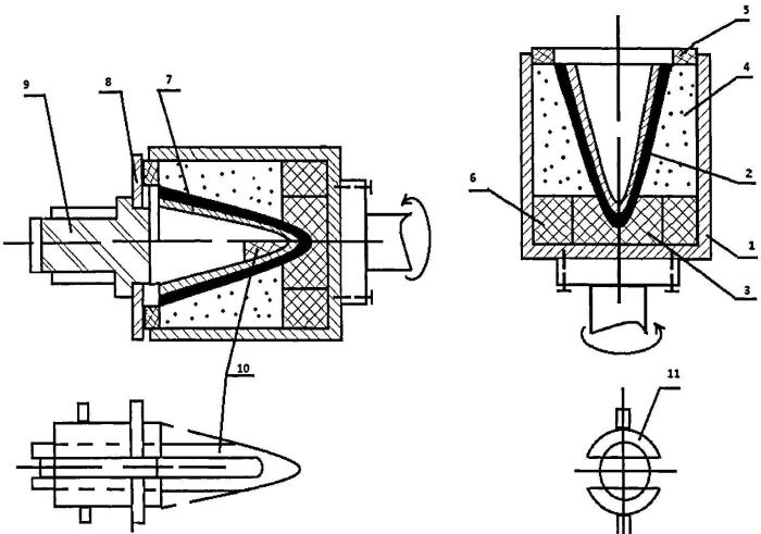 Способ изготовления конусных изделий из стеклообразного материала
