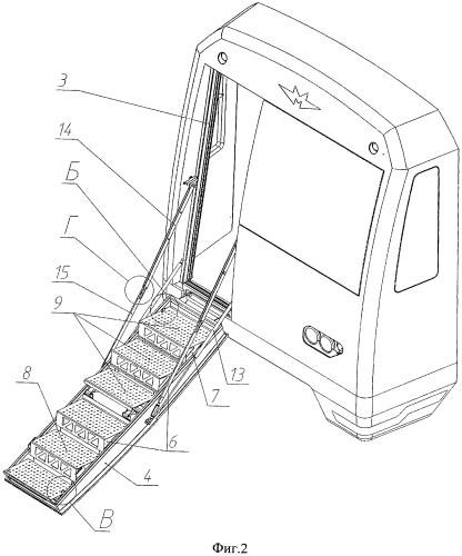Устройство для аварийного выхода из кабины машиниста вагона метро