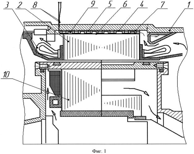 Устройство охлаждения электрической машины