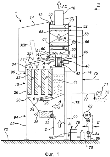 Устройство и способ очистки отходящего газа из электролизера для производства алюминия
