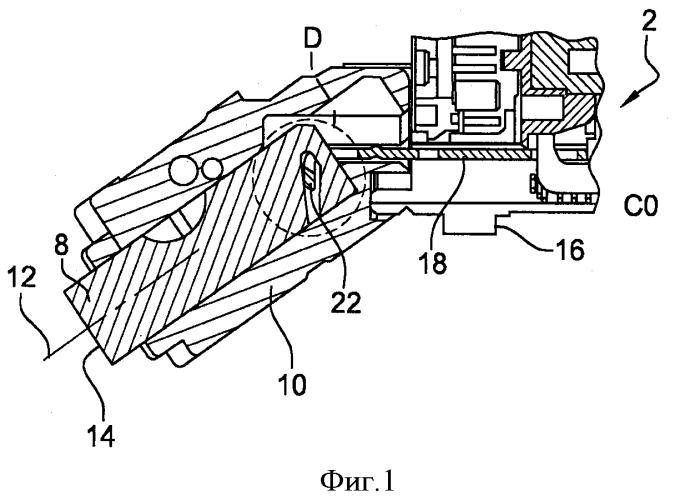 Противоугонное устройство для рулевой колонки транспортного средства, оборудованное приводом язычка с холостым ходом