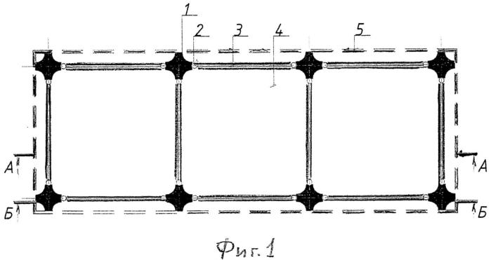 Фундамент под сетку колонн