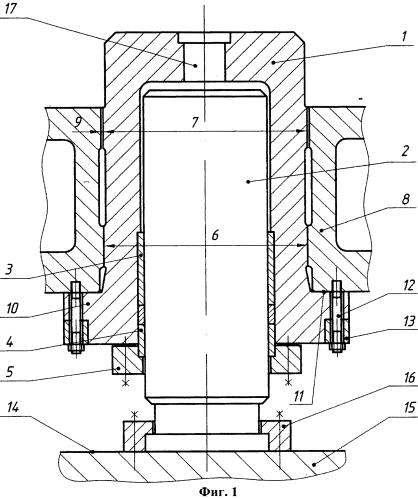 Способ соединения верхней поперечины гидравлического пресса с рабочим цилиндром