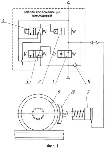 Клапан сбрасывающий трехходовый