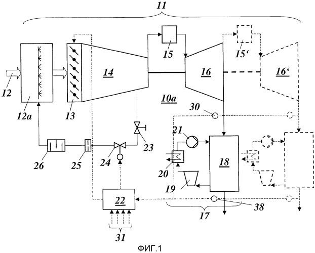 Способ работы энергетической установки с комбинированным циклом и установка для осуществления такого способа