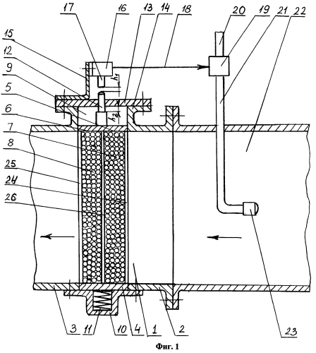 Способ гашения пламени горючих газов и устройство для задержания огня и свободного прохождения газов