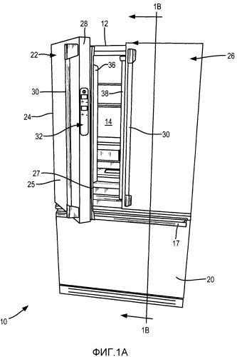 Холодильное устройство со скрытым интерфейсом пользователя