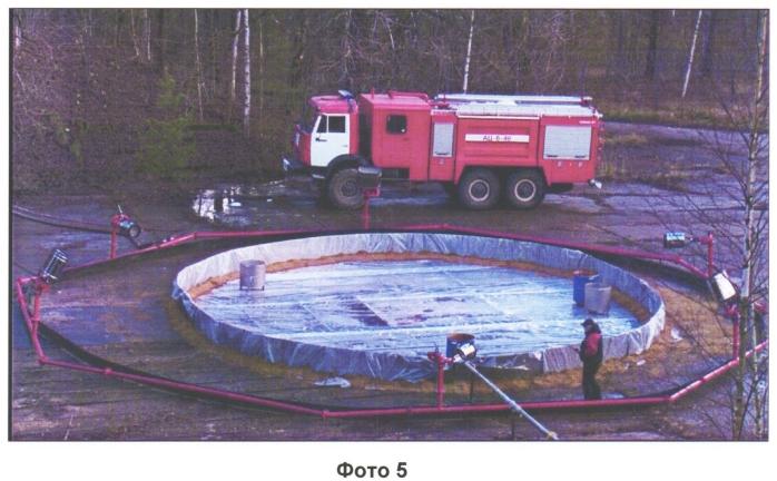 Способ ликвидации аварийных разливов сжиженного природного газа или сжиженного углеводородного газа водовоздушной пеной средней кратности (варианты) и система для его реализации