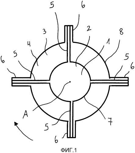 Многокомпонентные волокна для изготовления повязки на раны или имплантатов, полученные способом ротационного прядения