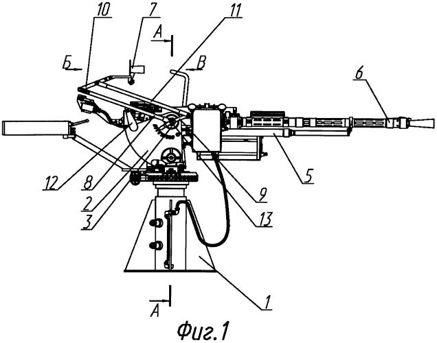 Оружейная установка с прицельным устройством и способ его выверки