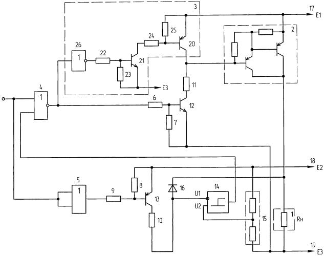 Транзисторный ключ с защитой от короткого замыкания