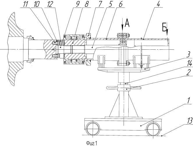 Стенд для монтажа и демонтажа подшипников железнодорожной колесной пары