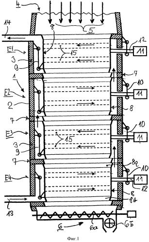 Устройство для сушки и подогрева состоящего из частиц загружаемого материала