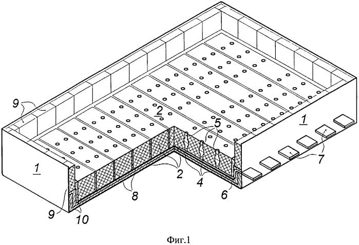 Конструкция токоотводов катода алюминиевого электролизера