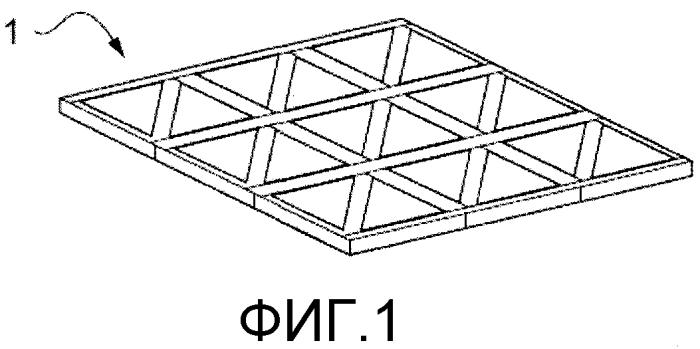 Решетчатая волокнистая композиционная конструкция и способ производства такой решетчатой конструкции