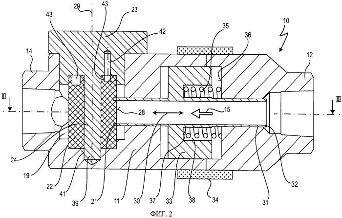 Коаксиальный клапан с уплотнительным элементом