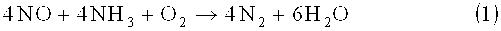 Способ получения устойчивого к дезактивации катализатора для селективного каталитического восстановления nox